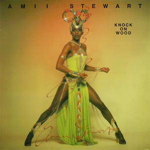 Singer Amii Stewart on the cover of her single, Knock On Wood