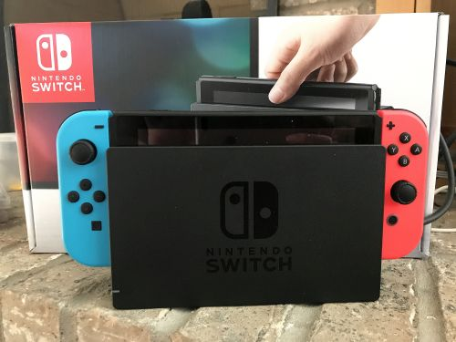 The Switch in in its dock.