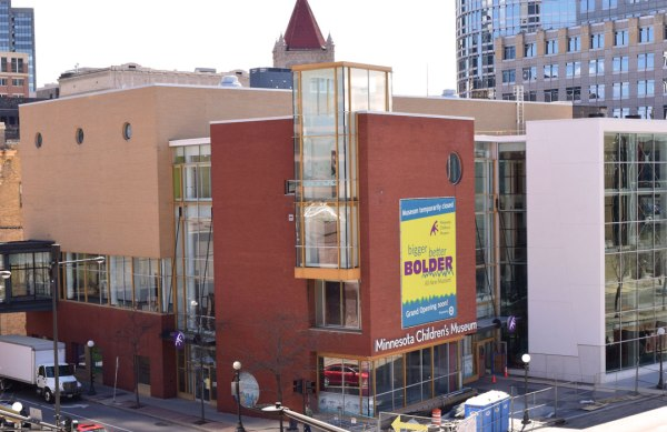 Exterior photo of the newly reopened Minnesota Children's Museum
