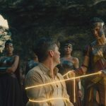 The Amazons use the Lasso of Hestia on Steve Trevor