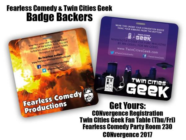 TCG/Fearless Comedy badge backers