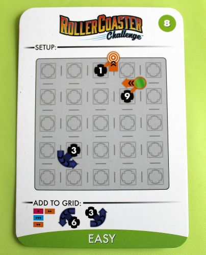 A Roller Coaster Challenge Card