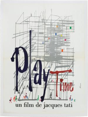 Theatrical poster for Playtime.