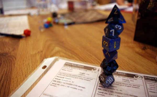 A stack of D&D dice