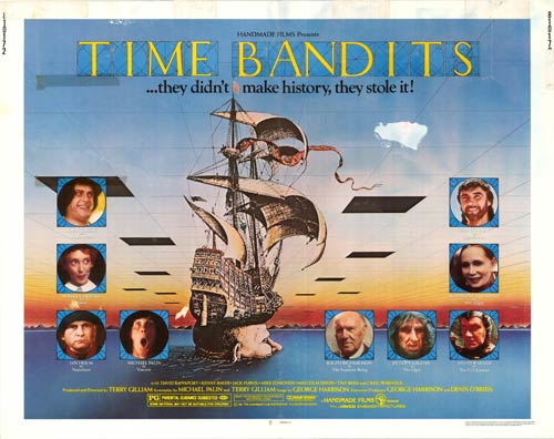 Original lobby poster for Time Bandits.