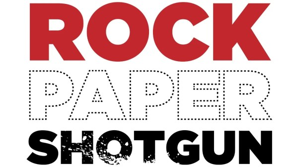 Rock, Paper, Shotgun logo