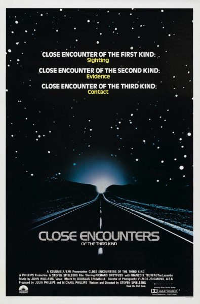 Theatrical teaser poster for Close Encounters of the Third Kind.