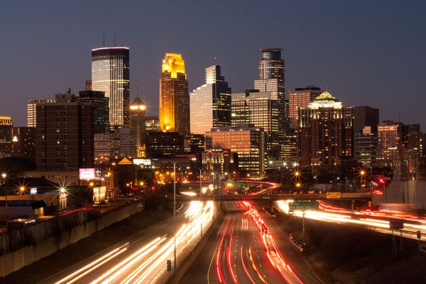 The Minneapolis skyline