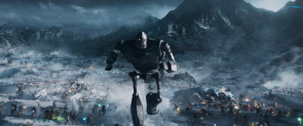 The Iron Giant running into battle