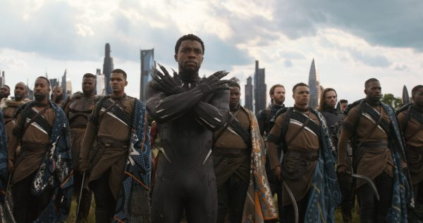 Black Panther and Wakandan warriors