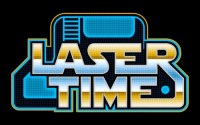 A black background with the words 'Laser Time' in gold and blue.