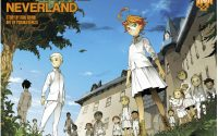 color spread of Emma, Norman and Ray as well as the other children from Promised Neverland