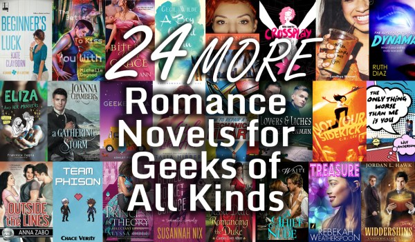 24 More Romance Novels for Geeks of All Kinds header