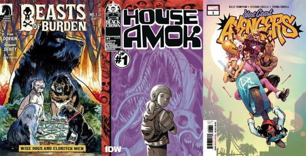 Covers for this week's comics