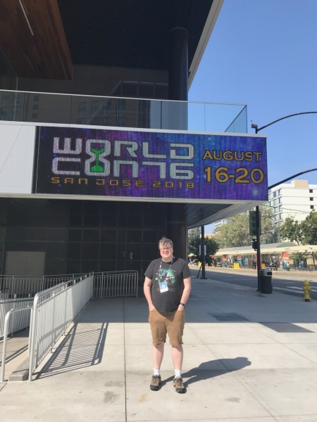 Michael at Worldcon 76 in San Jose, CA