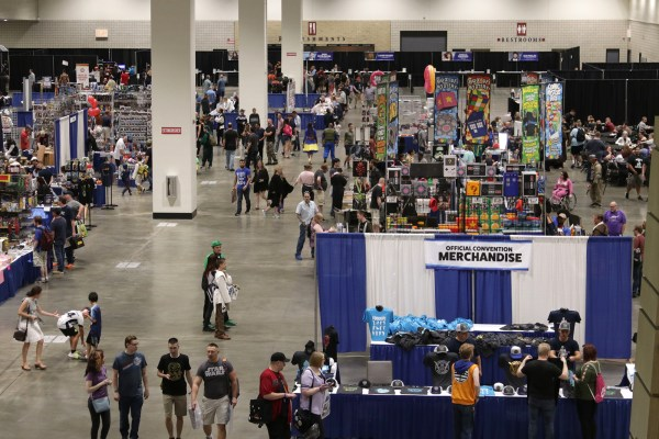 Exhibitors and attendees at Minnesota Fan Fest