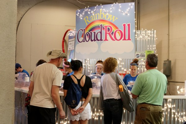 The Rainbow Cloud Roll stand