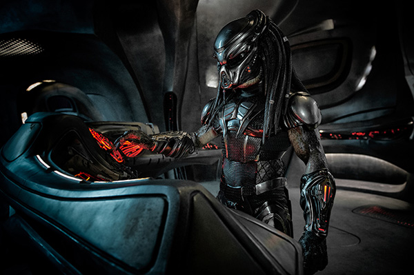 The Predator onboard its ship
