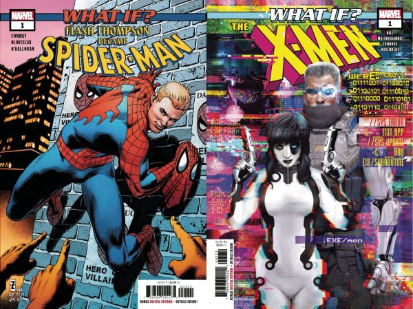 Covers of What if? Spiderman, #1 and What if? X-Men #1