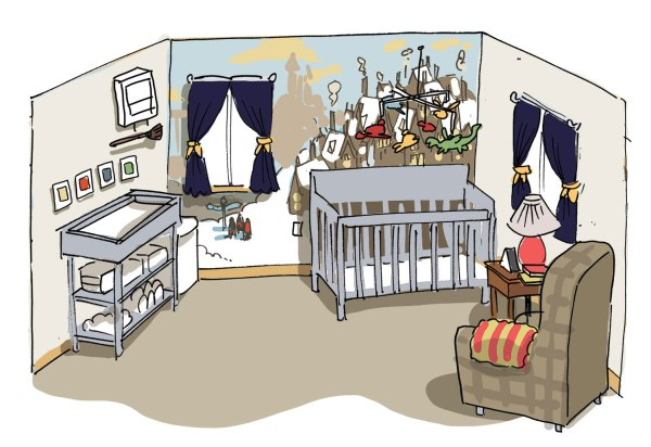 An illustration of the nursery