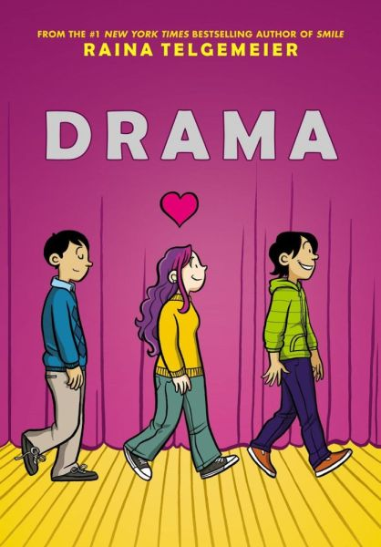 The front cover of Drama by Raina Telgemeier