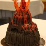 A volcano made out of frosting