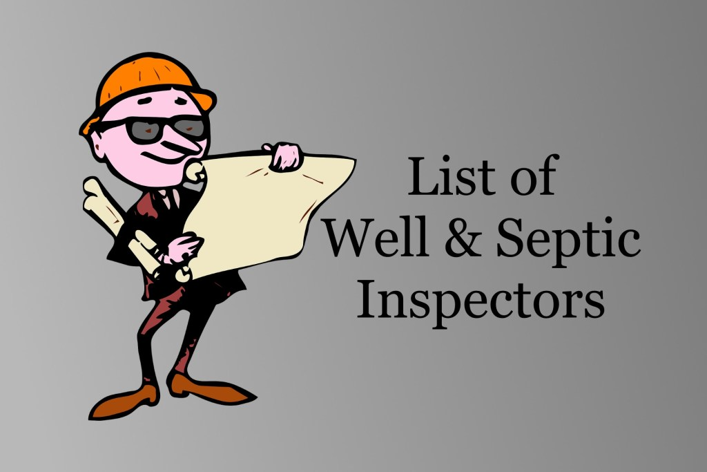 List of Well & Septic Inspectors in the Twin Cities & Western WI