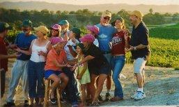Mangiapane families at the vineyard.