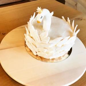 swan zwaan taart verjaardag feest thema taart