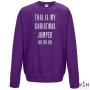 this is my jumper purple