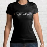 Huffleclaw Black Ladies T Shirt