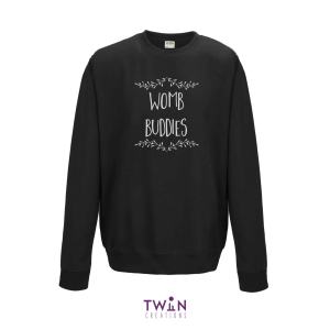 Womb Buddies Black Jumper