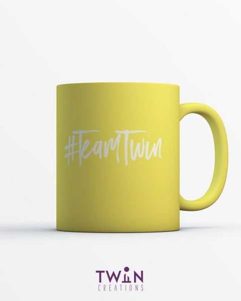 team twin mug yellow