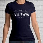 Custom The Evil Twin T-Shirt Navy