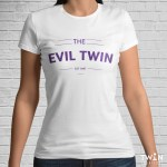 Custom The Evil Twin T-Shirt White