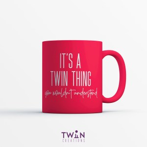 It's A Twin Thing Mug Red