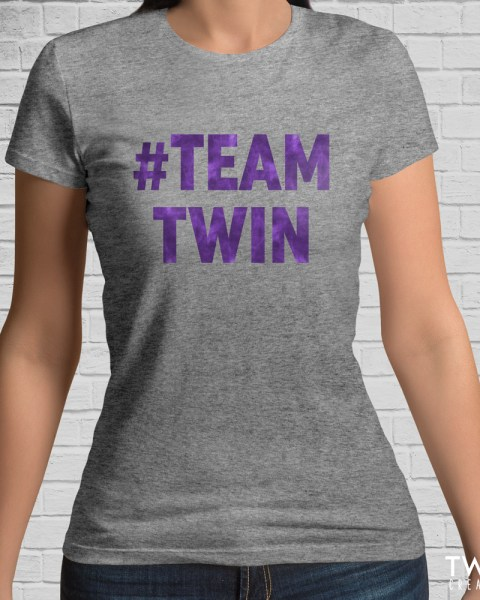 team twin bold tee athletic purple