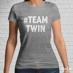 #TEAMTWIN Bold T-Shirt Athletic with White