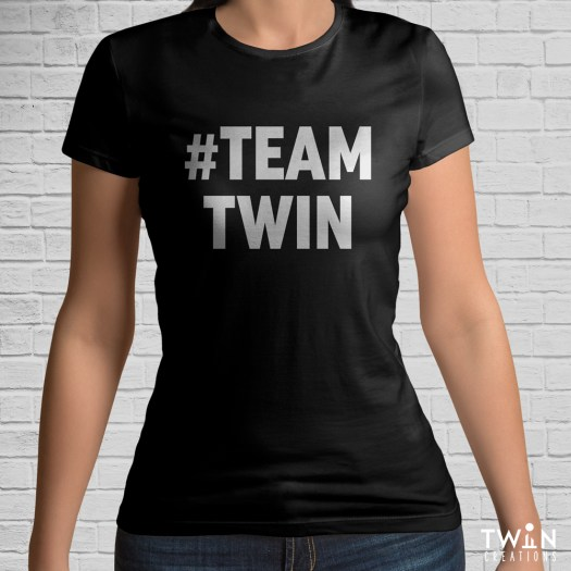 #TEAMTWIN Bold T-Shirt Black