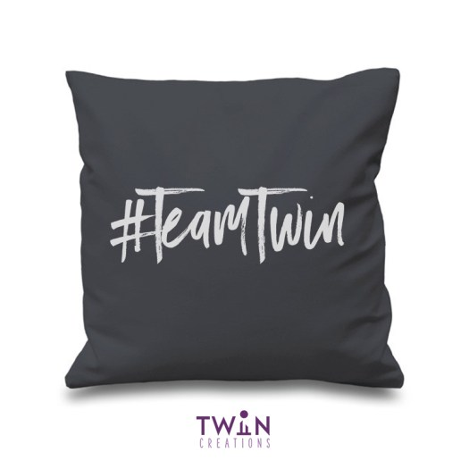 #TeamTwin Cushion Charcoal