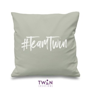 #TeamTwin Cushion Grey