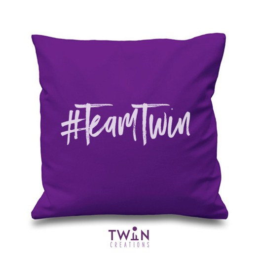 #TeamTwin Cushion Purple