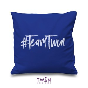 #TeamTwin Cushion Royal