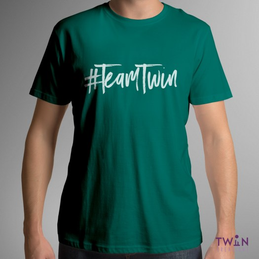 Team Twin Mens T-Shirt Green