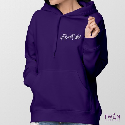 Team Twin Hoodie Small Design Ladies Feature
