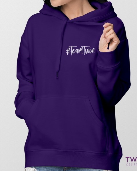 team twin sm ladies hoodie feature
