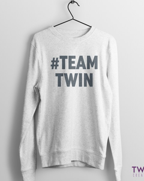teamtwin bold jumper athletic grey
