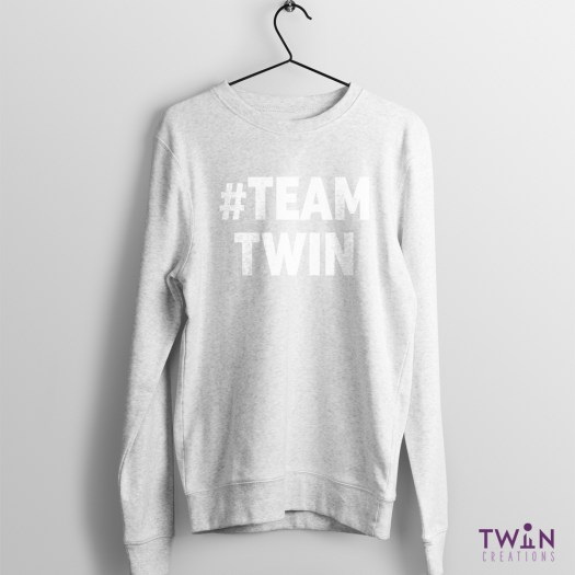 #TEAMTWIN Bold Jumper ATHLETIC WHITE