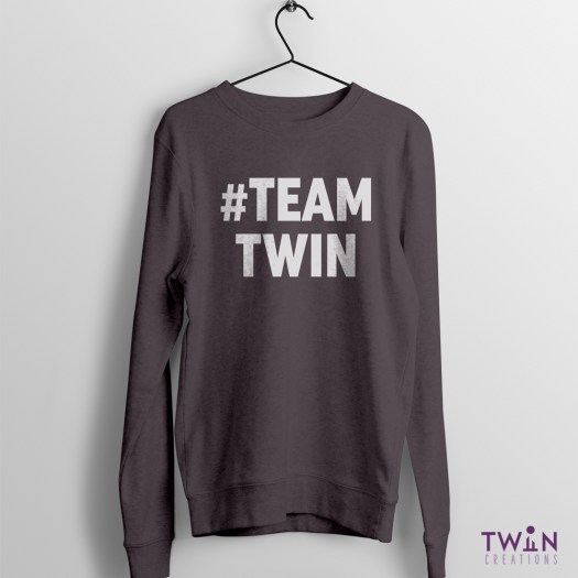 #TEAMTWIN Bold Jumper Charcoal