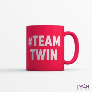 #TEAMTWIN Bold Mug Red